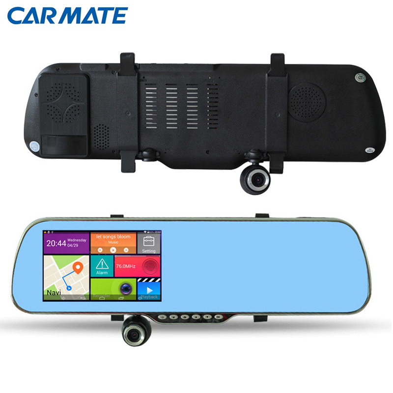 New 5 inch Android 4.4.2 Rearview Mirror GPS Navigation Car Anti Radar Detector Car DVR 1080P Truck vehicle gps Navi Free map<br><br>Aliexpress