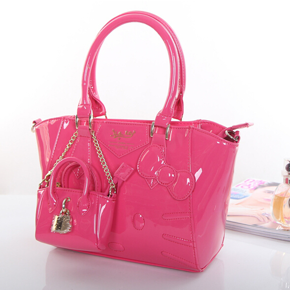 Luxury 2015 Hot Sale New Hello Kitty Bags Classic Tote Bag Women Purse Girl