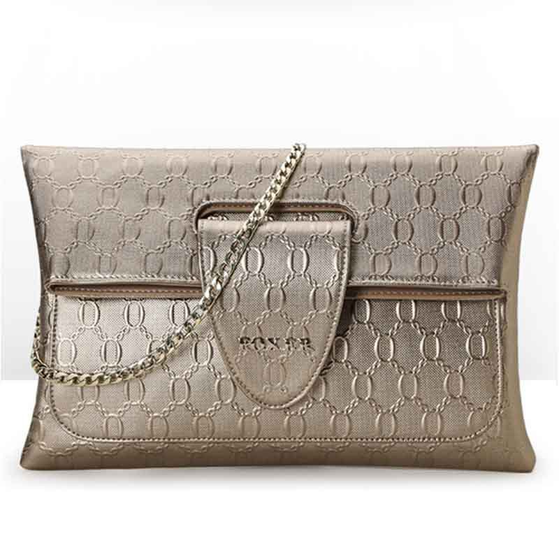 Фотография 2015 Famous Brand Women Bag Fashion Foxer High Quality Genuine Leather Handbags Solid Cover Women Shoulder Bags