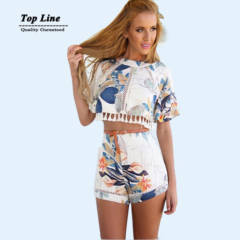 2015 new women brand high waist Print Club dress short sleeve leaf print casual dress plus size women summer dress white(China (Mainland))