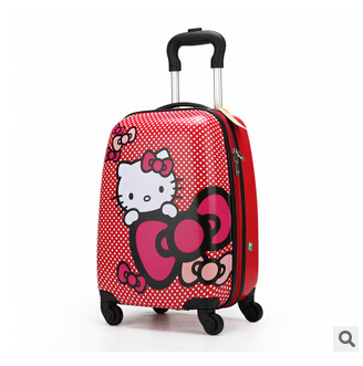 2014 Top seller with factory price hello kitty luggage for children on sale Free Shipping(China (Mainland))