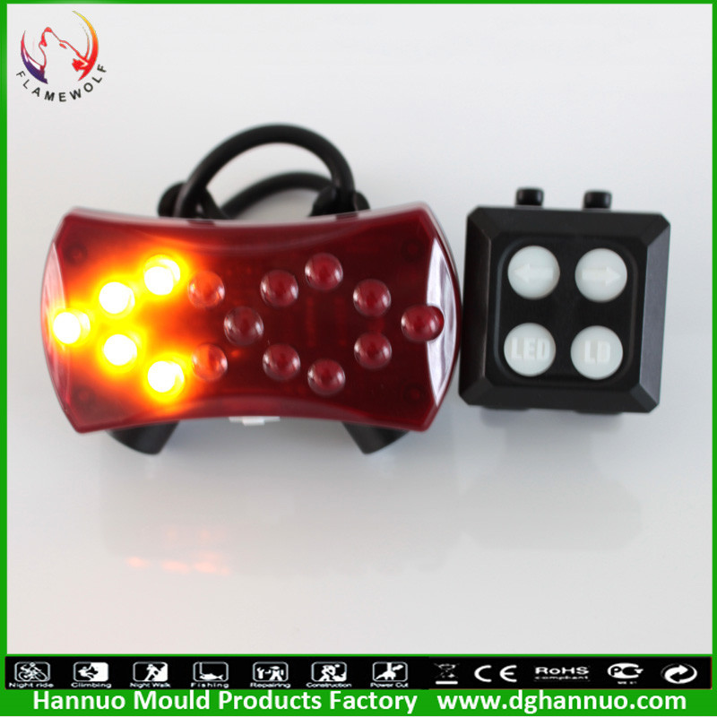 2015 New Highlight safety red laser bicycle turn signal rear light with bright power(China (Mainland))
