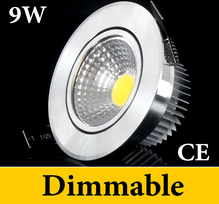 9W COB Led Recessed Downlights Lights 110-240V + Transformer 120 Beam Angle Nature White Warm/Cool CE ROHS UL - Eternal Online LED Store store