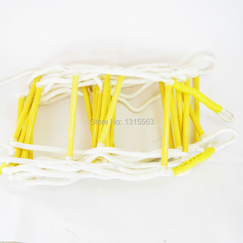 17FT (Free Safety Hook+High Strength Epoxy Resin) Rescue rope ladder without Internal steel wire(China (Mainland))