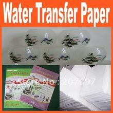 A4 Size white Water-based Ink-jet Water Transfer Paper,Decal Paper FREE SHIPPING(China (Mainland))