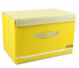 Pastoral cloth factory outlets buckle clothes storage box large(China (Mainland))