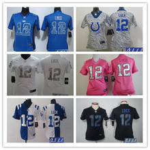 Signature Women Lady Indianapolis s ,#12 Andrew Luck,T.Y. Hilton,Andre Johnson,Pat McAfee,Coby Fleener,Frank Gore,camouflage(China (Mainland))