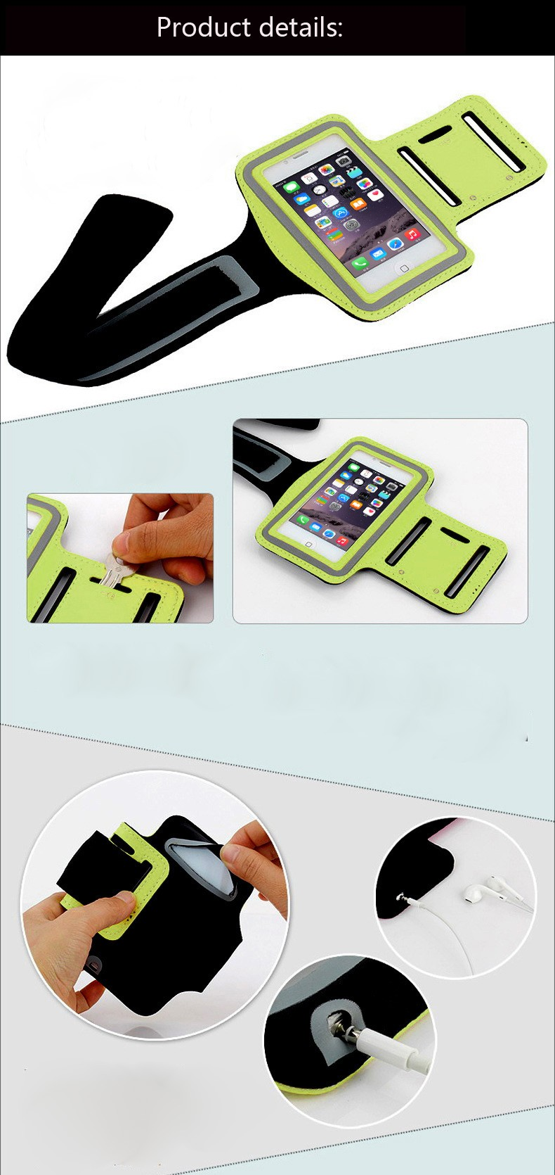 Training Sports Case for iphone 5 5s 5c waterproof bandage bandage run workout phone arm package