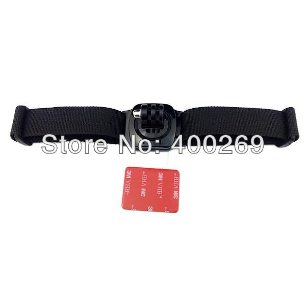 Free shipping 10pcs/lot Helmet Strap with Mount of 360 degree rotation with lock,with 1x 3M stick, for GoPro Hero 3+/3/2/1 GP127<br><br>Aliexpress
