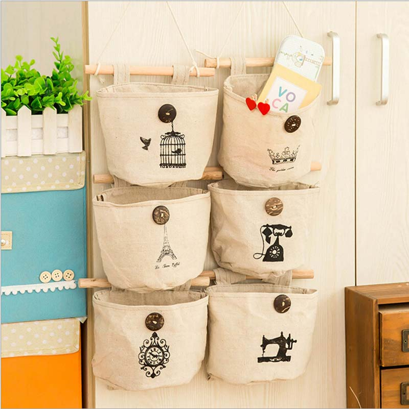 High quality classical wall wardrobe cloth pouch cabinet hang bag storage bag bed linen nostalgia housekeeping bag(China (Mainland))