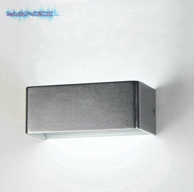 Купить Для поверхностного Монтажа Стены Бра 6 Вт LED Теплый Белый Стены Спальни Лампа Прикроватная Лампа Свет Современный Минималистский Серебряный Свет Стены AC85-265V