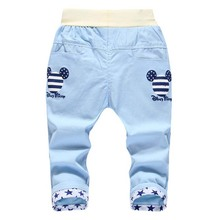 2016 Summer Styles Cartoon Child Pants Boys Jeans Calf-length Pants for Boys Children Casual Pants