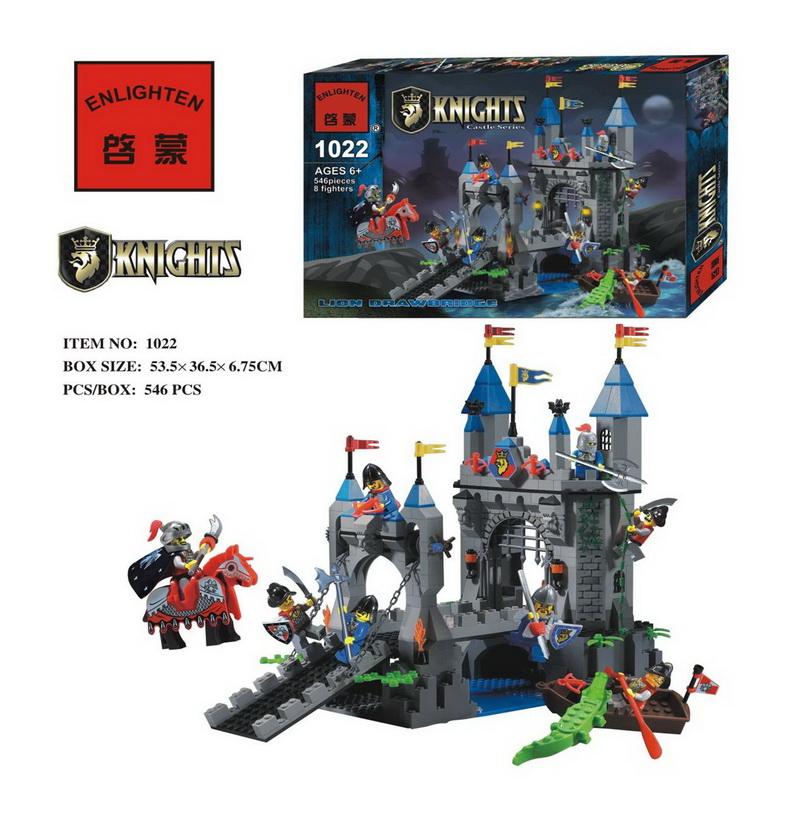 546pcs Ancient Castle Fortress Bunker Ancient Knight Building Block Minifigures Kid Toy Gift Compatible Legoelied Lbk