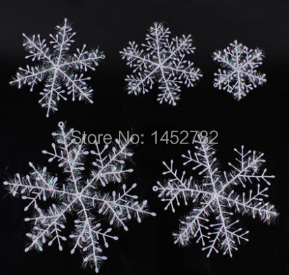 30pcs lot christmas snowflake hanging decorations for for Artificial snow decoration