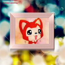 cute little fox cartoon bright acryl diamond painting 3d diy painting