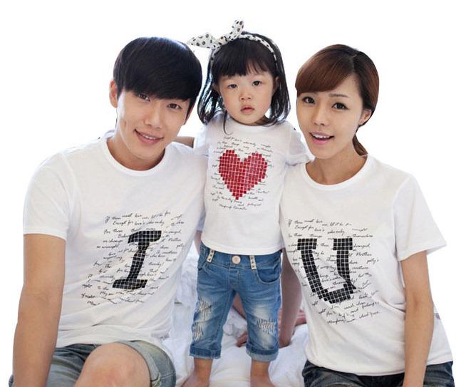 Семья соответствующие одежда родитель-ребенок свободного покроя комплект одежды семейные ...