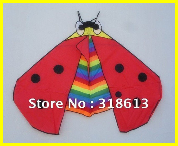 Free Shipping 2013 New Hot Lovely Ladybird Red Green Kites Best Gifts