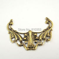 Antiqued Gold Colour Headwear Shaped Zinc Alloy Pendant 47*38*2 mm 15 PCS-31463