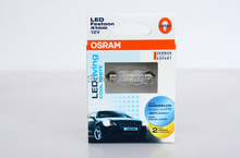 Free shipping!! Car Rear lamps OSRAM LED RIVING COOL WHITE 6441 CW C5W 41MM 12V 1W 6000K, Made In TAIWAN(China (Mainland))