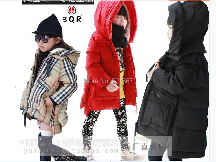 все цены на Пуховик для девочек Down jacket Zippers.Hooded 90% 0574 110  120  130  140  150 онлайн
