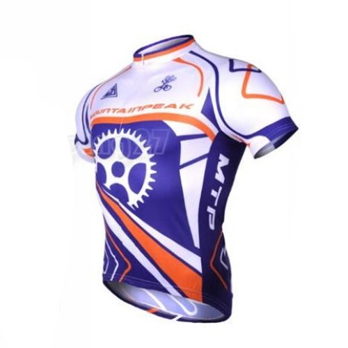 Men chasing shadows Cycling jersey Blue White Bike Bicycle Top Shirts Clothes /Cycling wear/ Cycling short sleeve Clothing(China (Mainland))