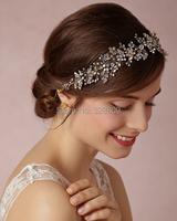 gorgeous crystal Wedding Silver bride headdress fashion crystal bridal head band wedding hair jewelry accessory