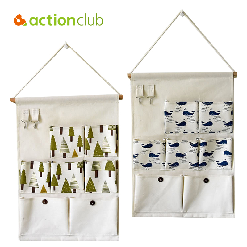 Actionclub Storage Cabinets 7 Pocket With Hook Wall Hanging Pouch Bag Multilayer Wall Set Decoration Storage Pocket Bins HH1692(China (Mainland))