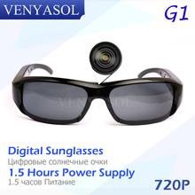VENYASOL HD 720P SPY Digital Sunglasses Mini Camera DVR Audio Video Action Sport Recorder Camcorder cam Driving Outdoor Hidden