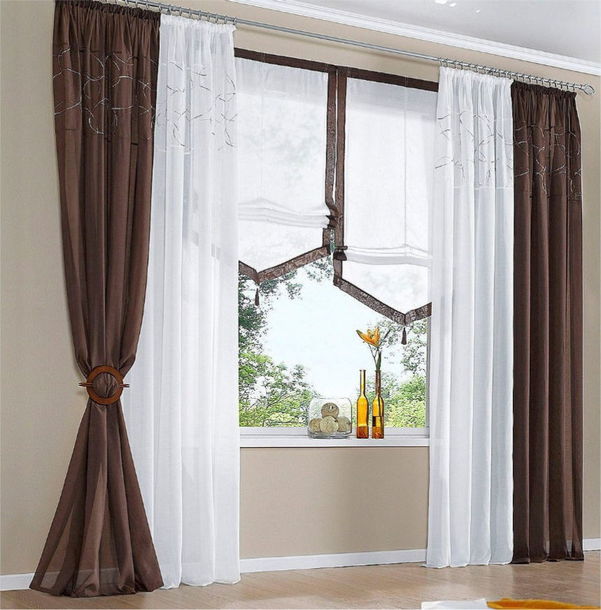 New Hot Sale Finished Curtains For Windows Gauze Voile