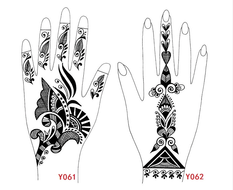 Wholesale Henna Mexendi Tattoo Template,Large Size Stencils For ...
