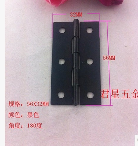 Black iron box parts antique small crafts furniture for door and window hinge180 degree(China (Mainland))