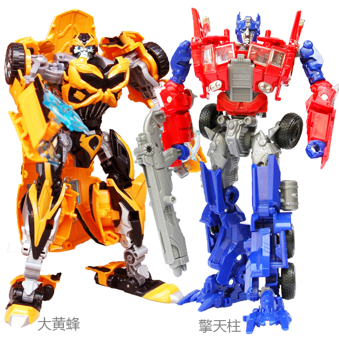 Limited! 18CM long Classic Toy Optimus Prime Bumblebee toys 3C alloy auto robot action figure Toys(China (Mainland))
