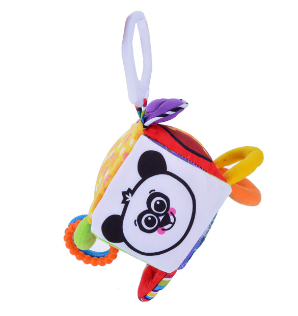 New Brand Baby Toys Multifunctional Clutch Cube Peekaboo Hang Bell Baby Rattles Mobile Toys For Education SV16(China (Mainland))