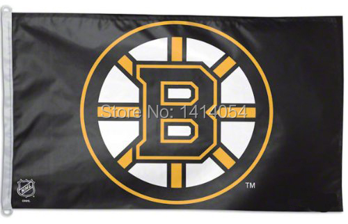 Boston Bruins logo black Flag 150X90CM NHL 3X5FT Banner 100D Polyester custome009, free shipping(China (Mainland))