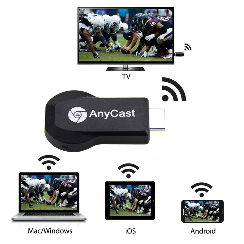 HD 1080P AnyCast M2 Plus Airplay Wifi Display TV Dongle Receiver DLNA Easy Sharing Mini TV Stick for Android IOS WINDOWS CX88(China (Mainland))