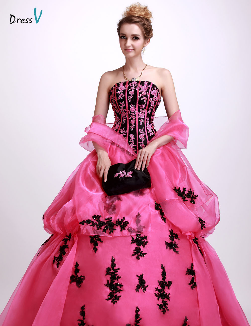 Dressv empire lace up floor length quinceanera dress dramatic strapless sleeveless ball gown quinceanera dress with jacket/shawl(China (Mainland))