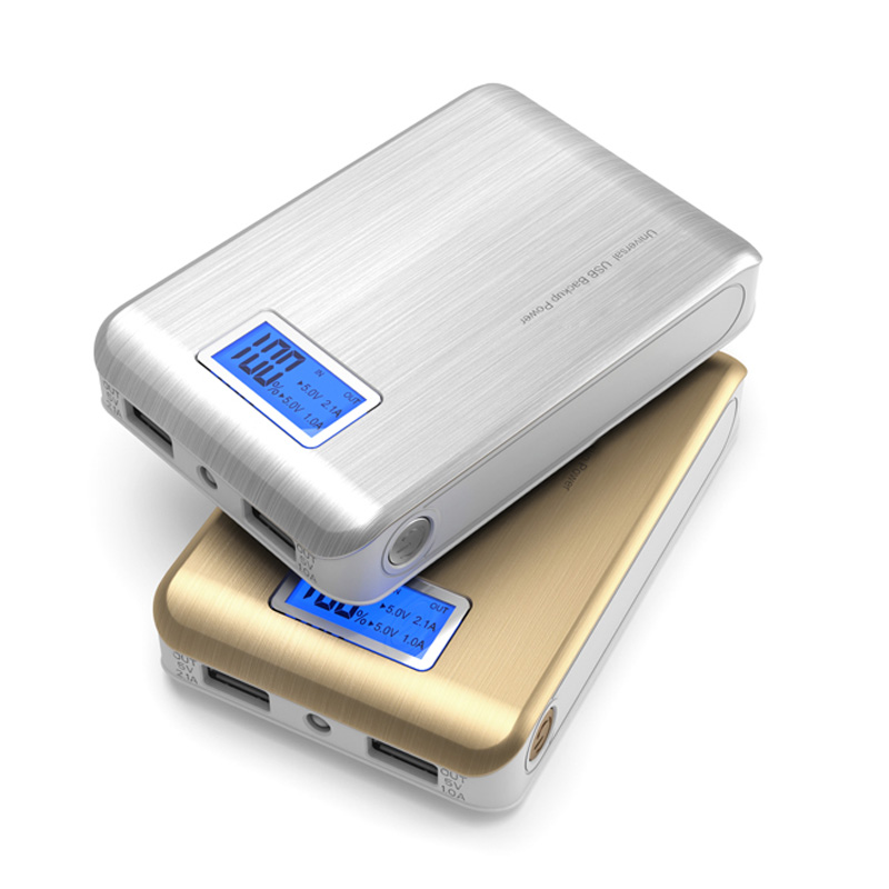 DoSHIN Real capacity 12000mah portable Power bank with LCD display LED external battery powerbank For iphone phones charger(China (Mainland))