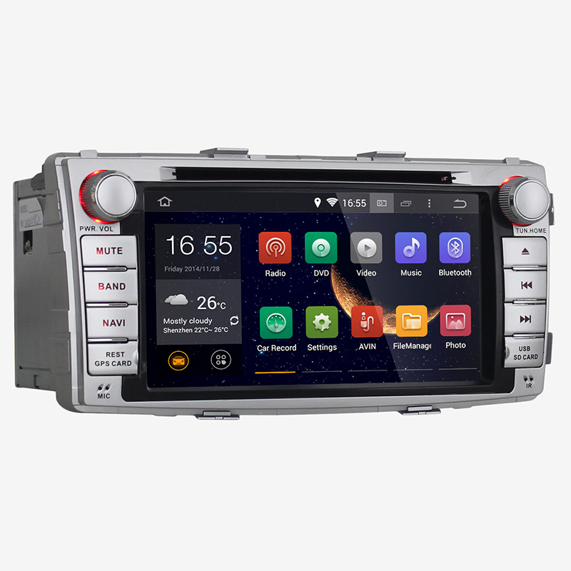 6 95 2 din Dual core Android 4 4 Toyota Hilux Car DVD Audio Video stereo