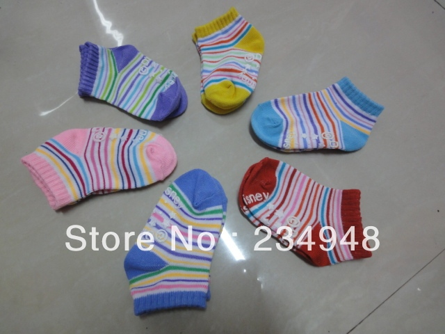 free shpping New arrival hot-selling 100% cotton Wholesale stripe socks, candy color baby wear,baby socks