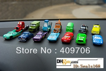 Retail Pixar Car 2 PVC Figure Toy Collection Moveable Mini Cute Toy Baby Gift 14pcs/Set