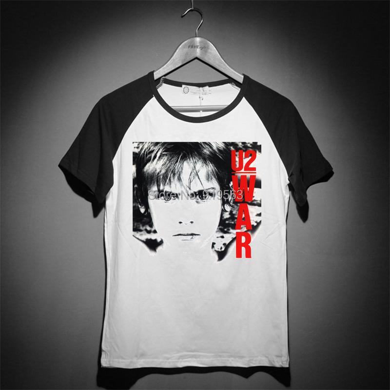 rock fashion u2 war Raglan baseball vintage tee shirt(China (Mainland))