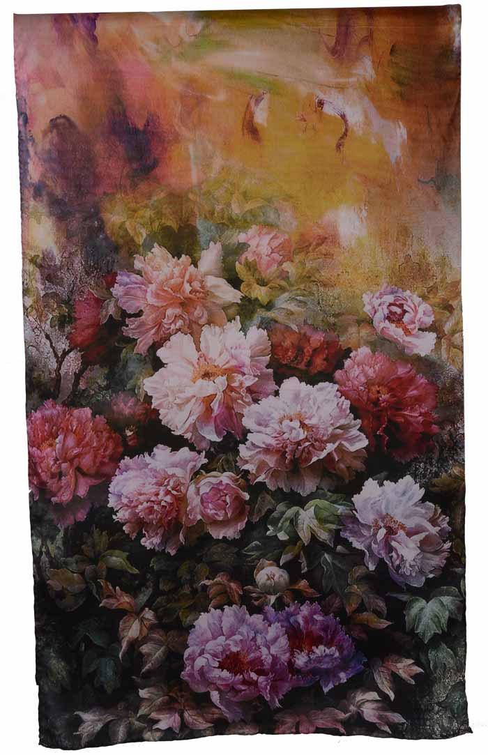 Flower silk full mulberry silk scarf roll-up hem female scarf zwj03Одежда и ак�е��уары<br><br><br>Aliexpress