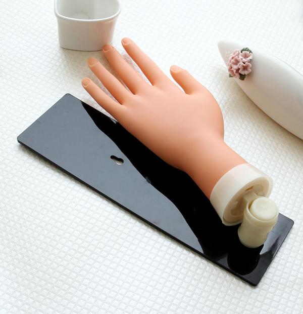 Free shipping! Acrylic nails practice soft hand&nail art training hand with Board(China (Mainland))