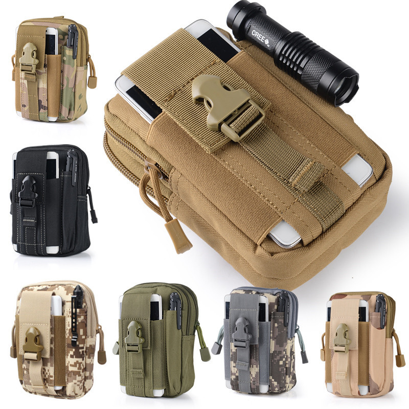 Outdoor Tactical 2016 Hot Holster Military Hip Waist Belt Bag Cell Phone Case For Huawei For Xiaomi Mi5 Redmi Note 2 3 Pro Prime(China (Mainland))