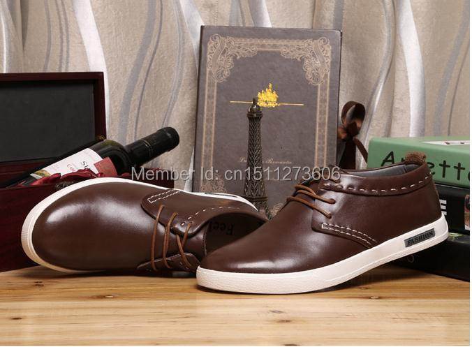 hot selling 2014 brand cheap Genuine Leathers men's cayman casual shoes luxury coste leisure shoes free shipping size 40-45(China (Mainland))