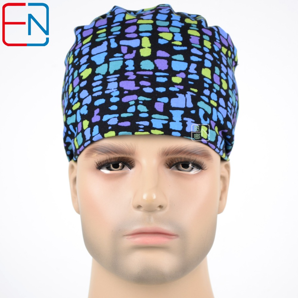 Matin Surgical caps doctors nurses 100% cotton Cap short hair Sweatbands