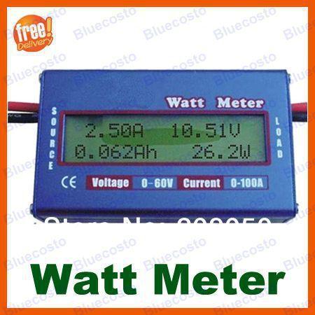 Digital LCD Balance Battery Power Voltage Analyzer,Watt Meter, Current Voltage Meter Checker,60V/100A