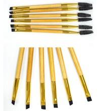 Hot Double Ends Makeup Tools Bamboo Brushes Eyelash Lashes Blending Eye Brush Mascara Cosmetic Eyebrow Comb Make up Maquiagem(China (Mainland))