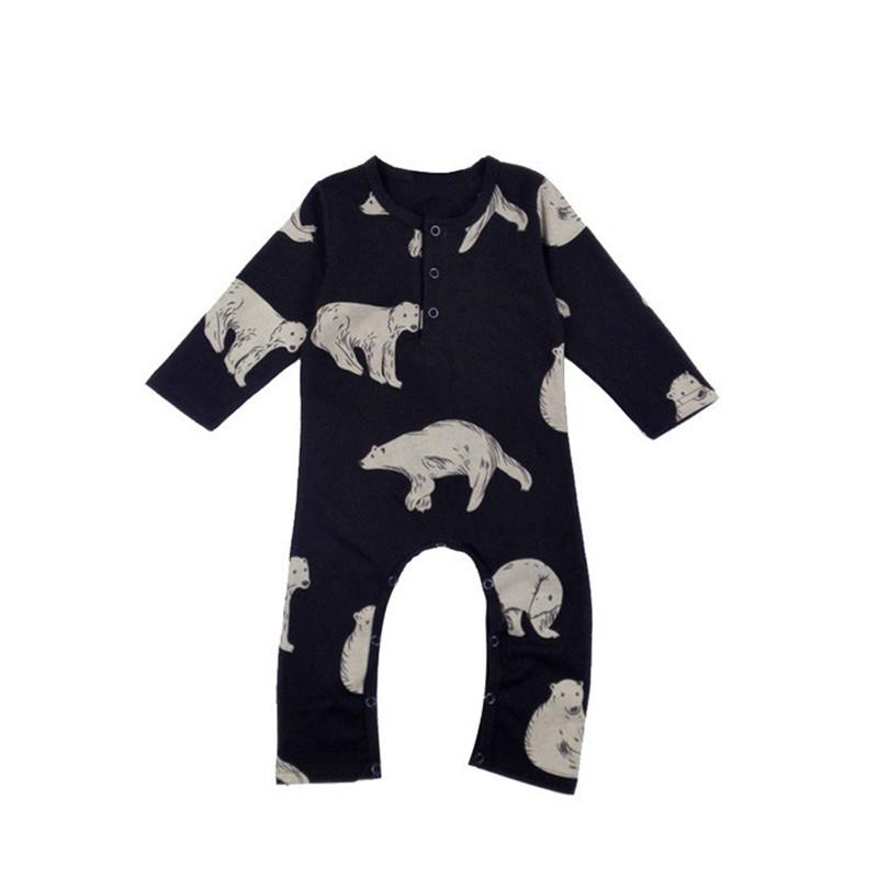 Primavera y Otoño Bebé Niño Y Niña Mamelucos Oso Polar Bebé Ropa Niños Del Mameluco Del Bebé Mono Bebé Ropa de Escalada(China (Mainland))