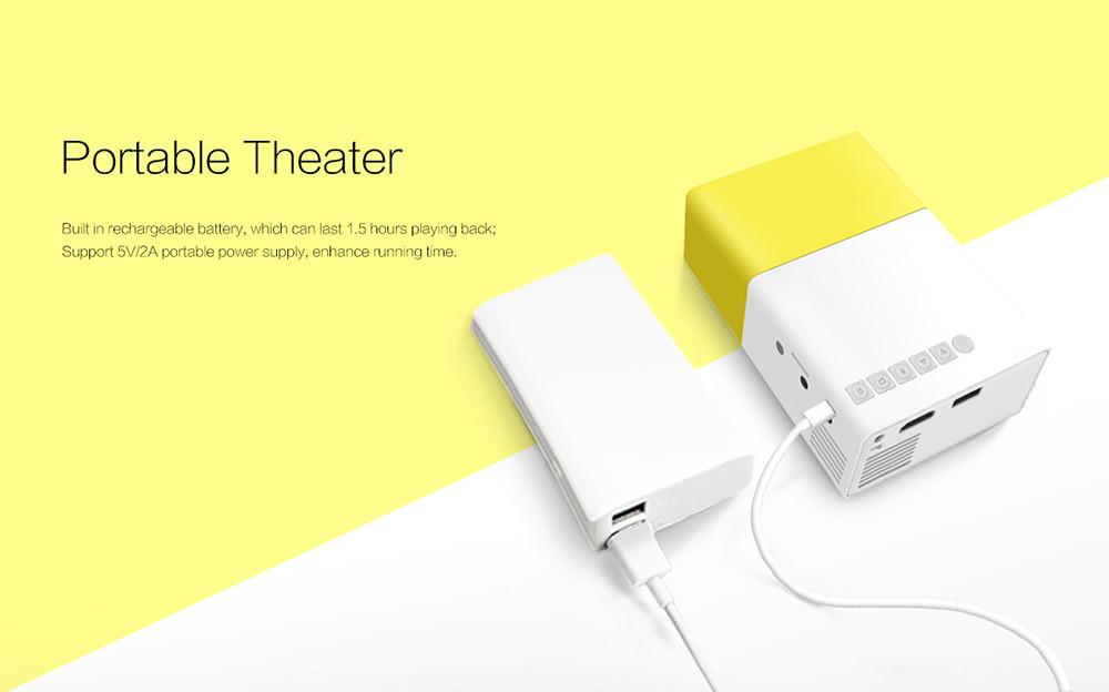 Thundeal yg300 yg 300 newest mini portable pico led for Mini usb projector for mobile